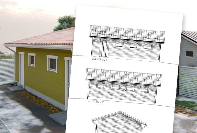 Arkkitehtisuunnittelu autotallille -50%