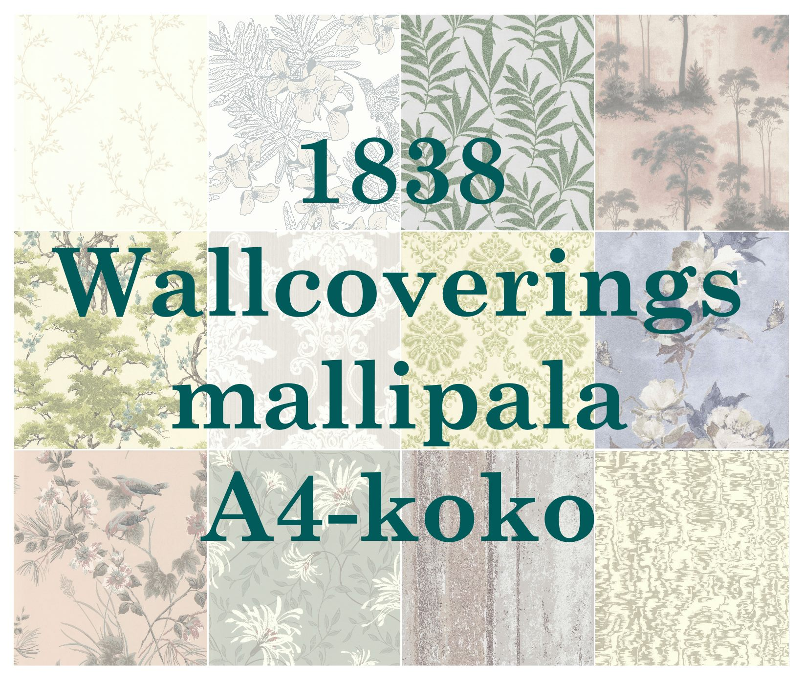 1838 Wallcovers -tapetin mallipala koko A4