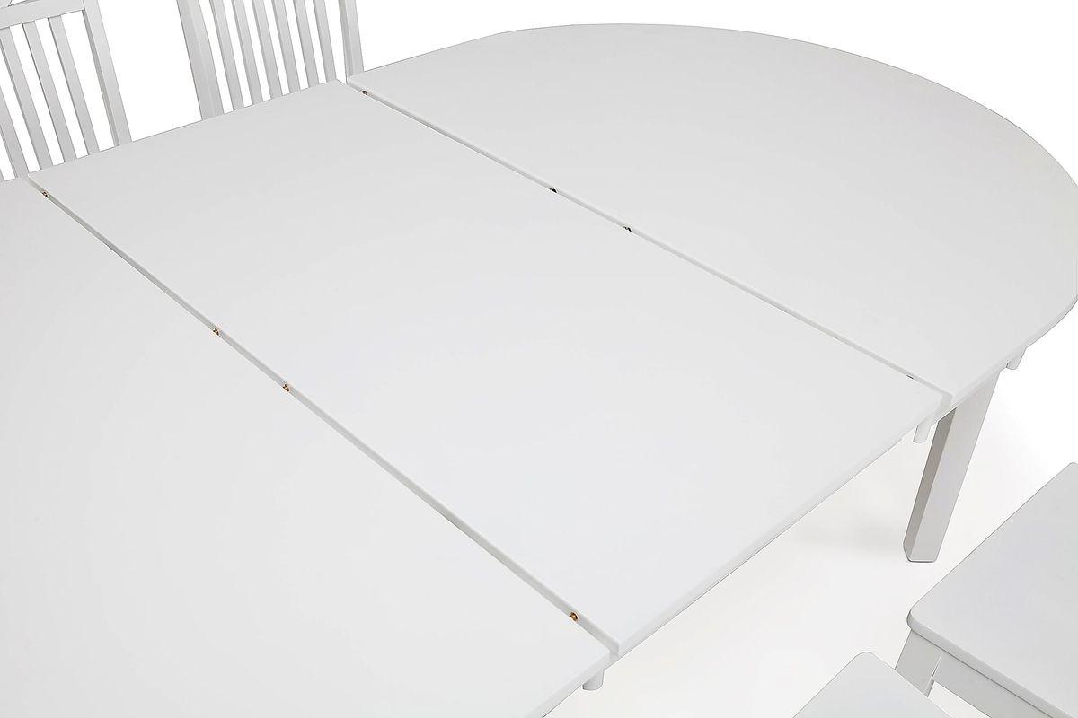 Ruokailuryhmä Arja pöytä ja Thomas tuolit valkoinen  Taloon com