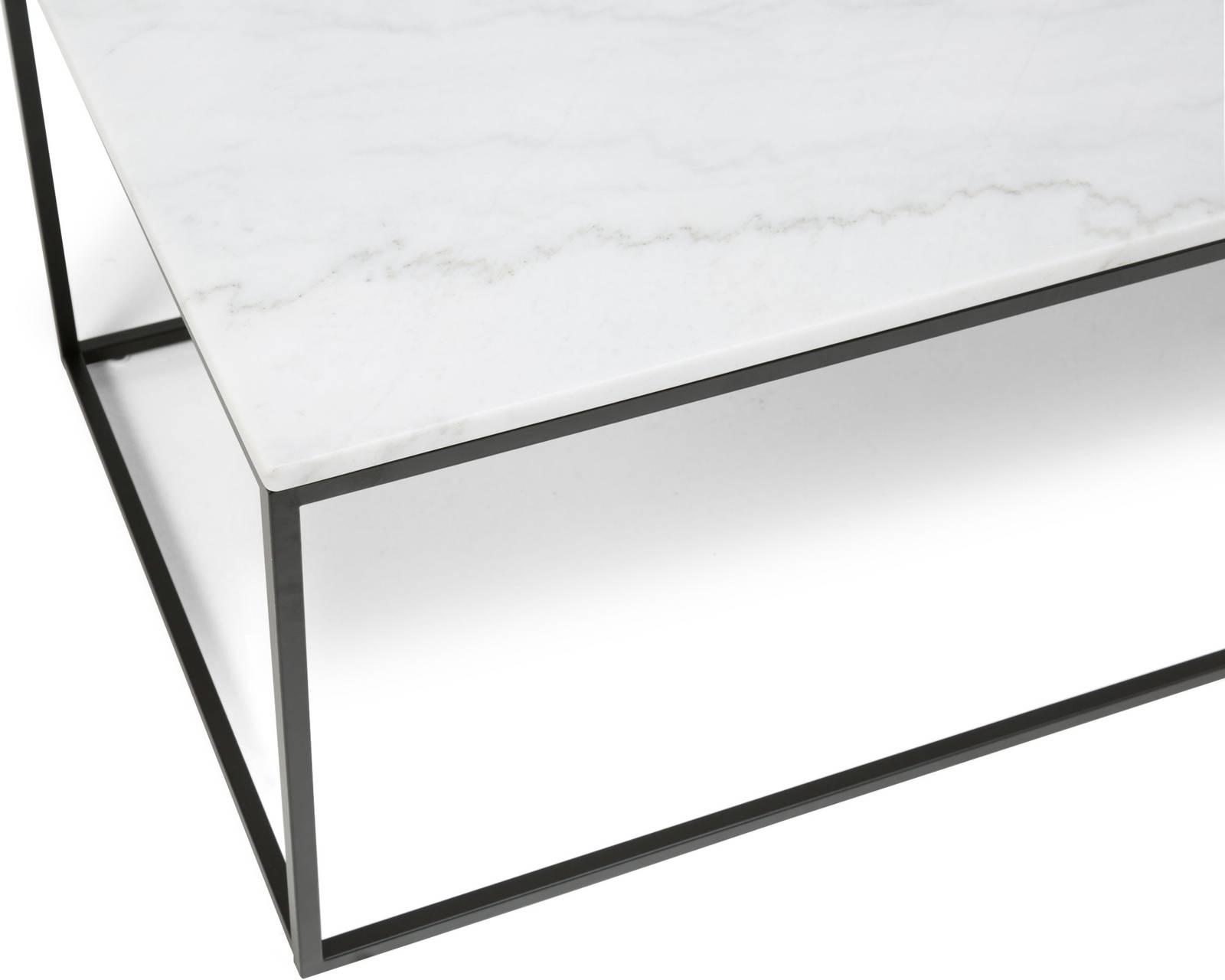 Sohvapöytä Olga 120x60x45 cm valkoinen marmori teräs