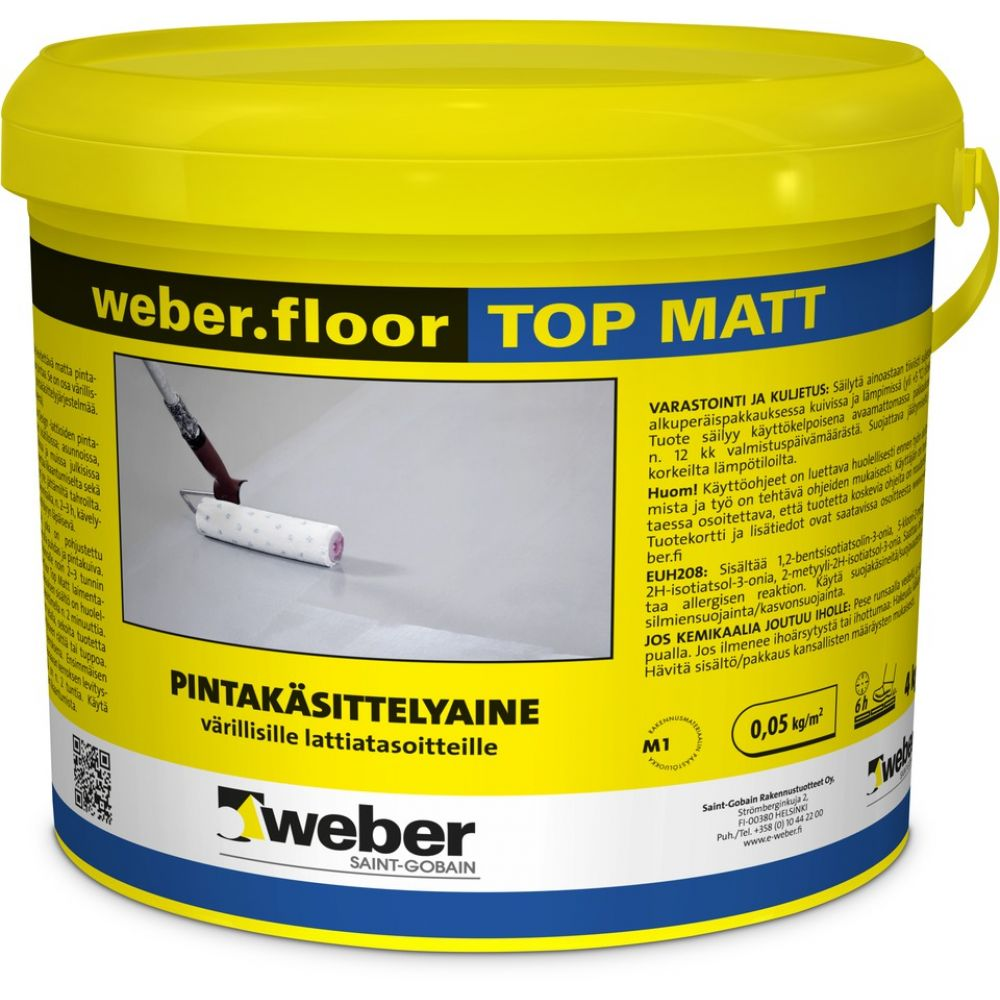 Pinnoite Weber Floor Top Matt 4 kg