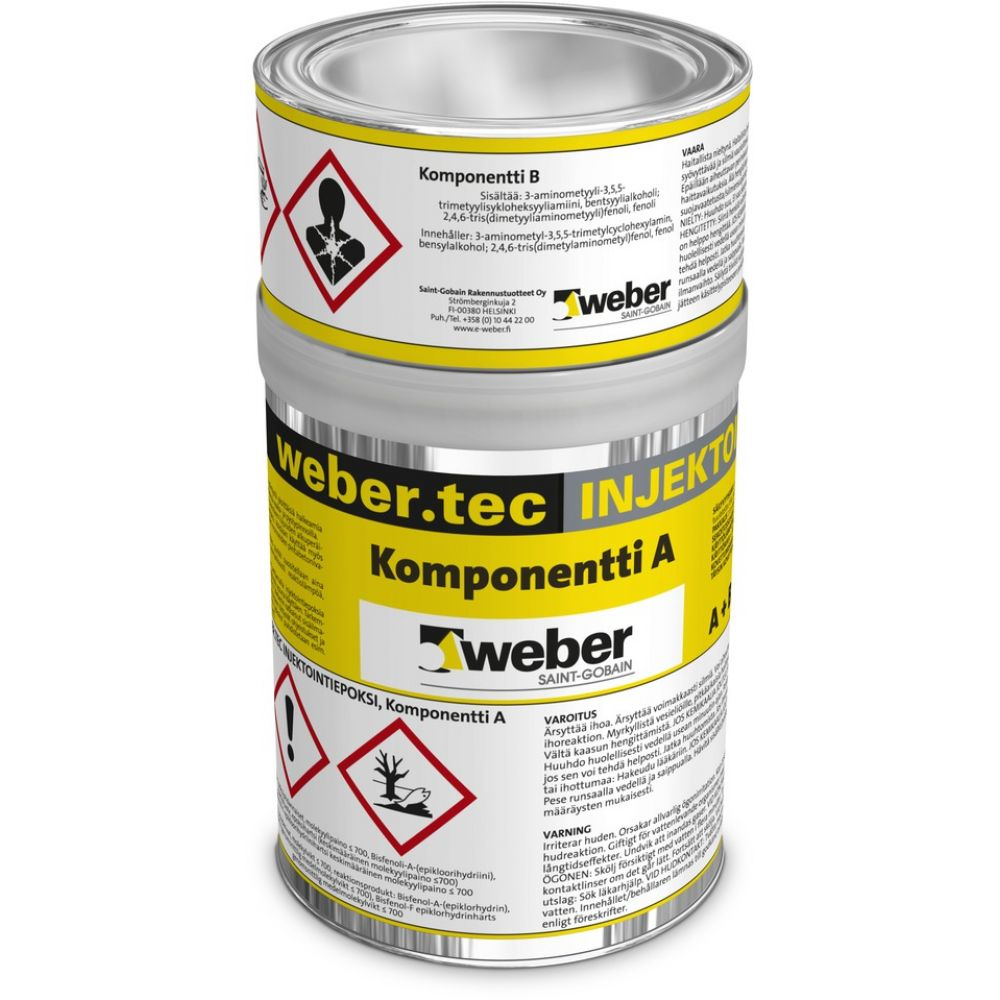 Injektointiepoksi Weber Injection epoxy 1 L