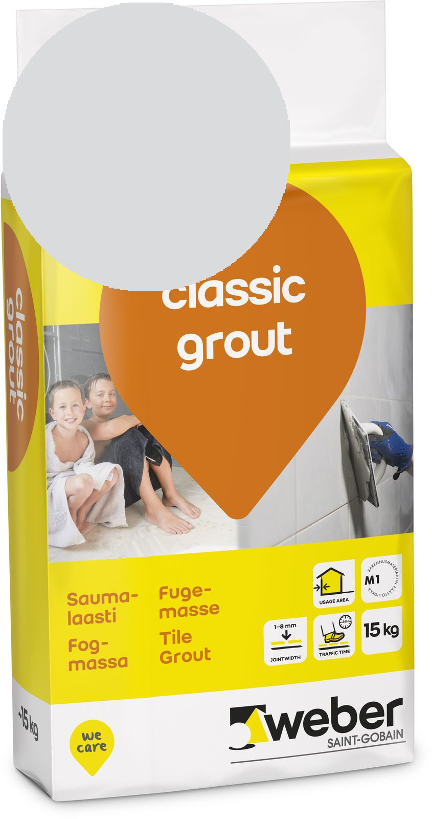 Saumalaasti Weber classic grout 13 Silver grey 15 kg