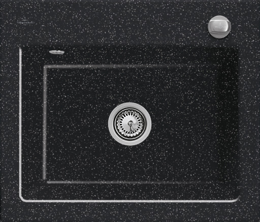 Keittiöallas Villeroy & Boch Subway 60 S Chromit metallinhohto musta Cera