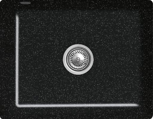 Keittiöallas Villeroy & Boch Subway 60 SU Chromit metallinhohto musta Cer