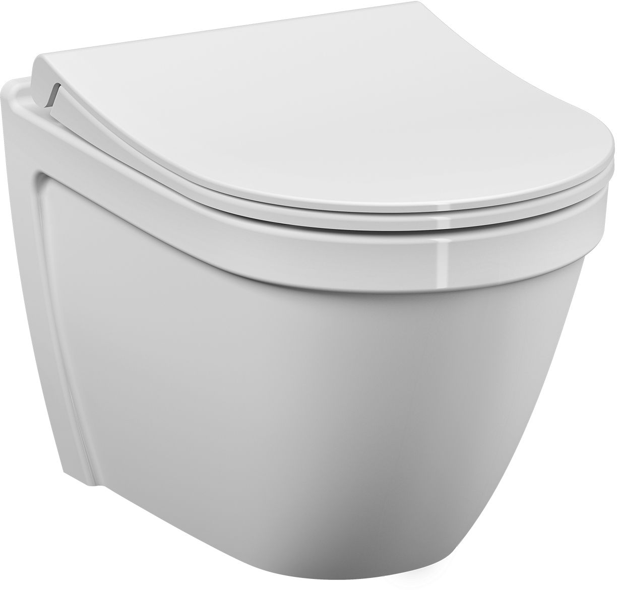 WC-istuin Vitra S50 Slim Rim-Ex seinämalli Soft Close-kannella