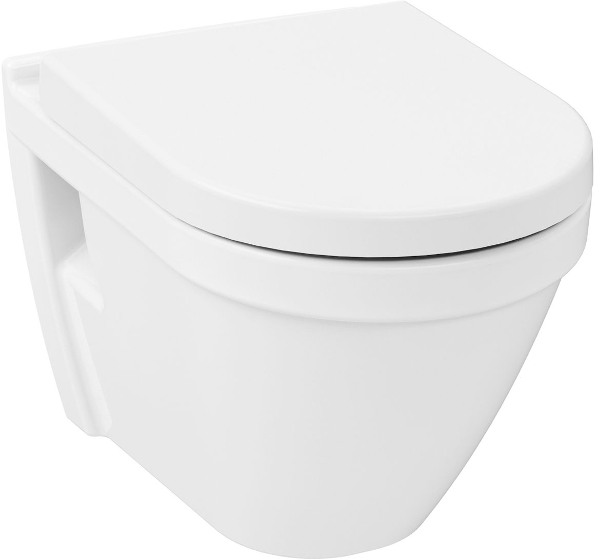 WC-istuin Vitra S50 seinämalli 480x360 mm Soft Close-kannella
