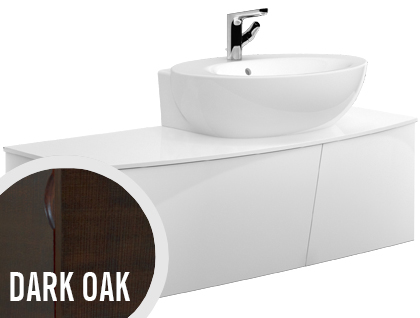 Allaskaappi Villeroy & Boch Aveo new generation A846 1316x400x508 mm Dark Oak + pesuallas