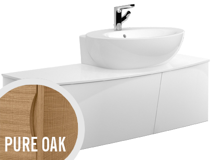Allaskaappi Villeroy & Boch Aveo new generation A846 1316x400x508 mm Pure Oak + pesuallas