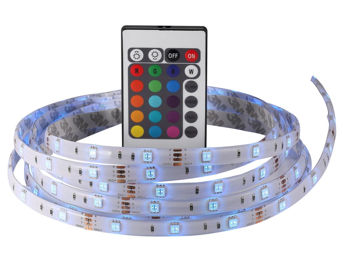 LED Taustavalo televisioon 2m, RGB, kauko-ohjain