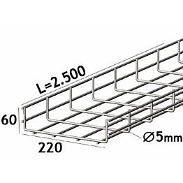 Lankahylly sähkö Zn 2.5m 120/60/5mm