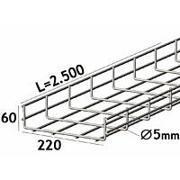 Lankahylly sähkö Zn 2.5m 220/60/5mm