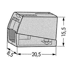 Muunnosliitin WAGO 224-101 0.5-2.5 mm2