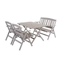 Ruokailuryhmä Nadja pöytä ja 4 tuolia harmaa
