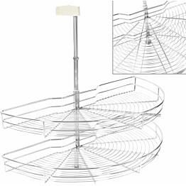 2-kerroksinen keittiön ritilähylly 180° hopea 85x44x80 cm_1