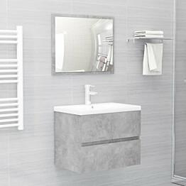 2-osainen kylpyhuoneen kalustesarja betoninharmaa lastulevy_1