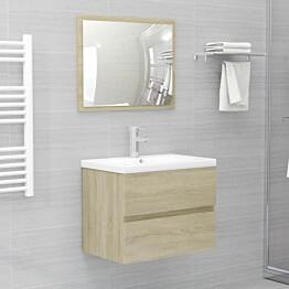 2-osainen kylpyhuonekalustesarja sonoma-tammi lastulevy_1