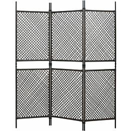 3-paneelinen tilanjakaja polyrottinki 180x200 cm ruskea_1