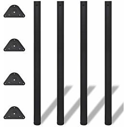 4 korkeussäädettävää pöydän jalkaa musta 1100 mm_1