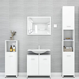 4-osainen kylpyhuone kalustesarja korkeakiilto valk._1