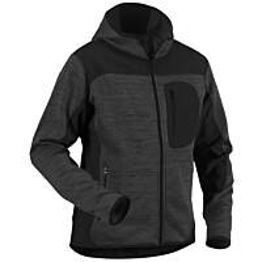 Blåkläder Neulottu softshelltakki Tummanharmaa/Musta