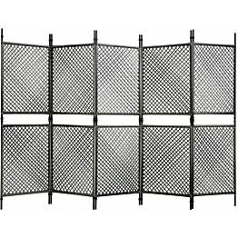 5-paneelinen tilanjakaja polyrottinki 300x200 cm antrasiitti_1