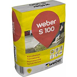 weber.vetonit S 100 Kuivabetoni 25 kg säkki