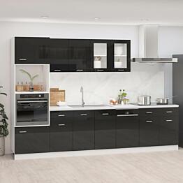7-os. keittiön kaappisarja korkeakiilto musta lastulevy_1