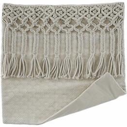 Tyynynpäällinen AmandaB Collection Macramee Kubu, 45x45cm, vaalea
