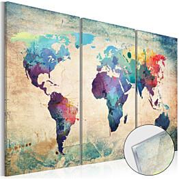 Akryylilasitaulu Artgeist Rainbow Map eri kokoja