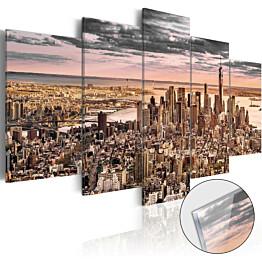 Akryylilasitaulu Artgeist New York City: Morning Sky eri kokoja