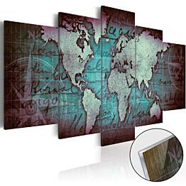 Akryylilasitaulu Artgeist Acrylic prints Bronze map II eri kokoja