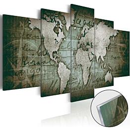 Akryylilasitaulu Artgeist Acrylic prints Bronze map III eri kokoja