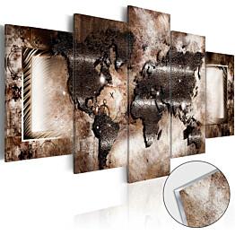 Akryylilasitaulu Artgeist Platinum Map eri kokoja