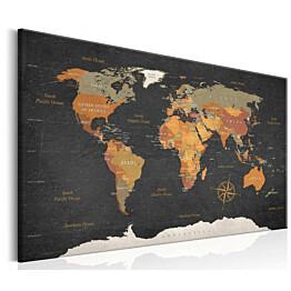 Taulu Artgeist World Map: Secrets of the Earth eri kokoja