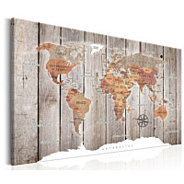 Taulu Artgeist World Map: Wooden Stories eri kokoja