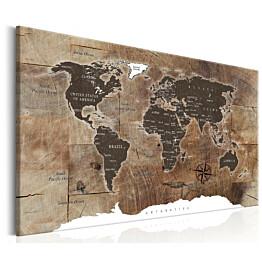 Taulu Artgeist World Map: Wooden Mosaic eri kokoja