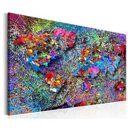 Taulu Artgeist Map: Jackson Pollock inspiration eri kokoja