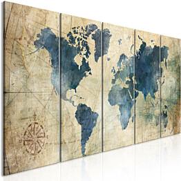 Taulu Artgeist Retro Map eri kokoja