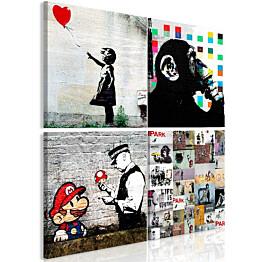 Taulu Artgeist Banksy Collage eri kokoja