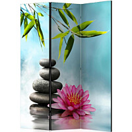 Sermi Artgeist Water Lily and Zen Stones 135x172cm