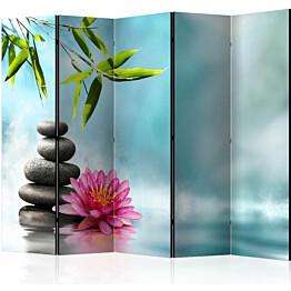 Sermi Artgeist Water Lily and Zen Stones II 225x172cm