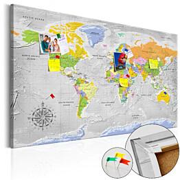 Korkkitaulu Artgeist World Map: Wind Rose, eri kokoja