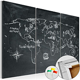 Korkkitaulu Artgeist Geography lesson eri kokoja