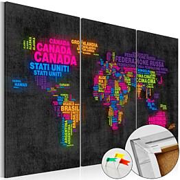 Korkkitaulu Artgeist Mappa del Mondo eri kokoja