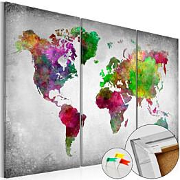Korkkitaulu Artgeist Diversity of World eri kokoja