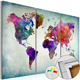 Korkkitaulu Artgeist World in Colors eri kokoja
