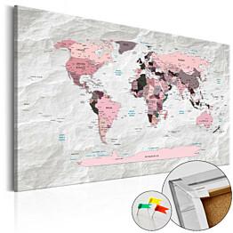 Korkkitaulu Artgeist Pink Continents eri kokoja