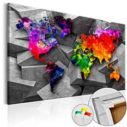 Korkkitaulu Artgeist Cubic World eri kokoja