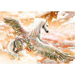 Sisustustarra Artgeist Orange Pegasus eri kokoja